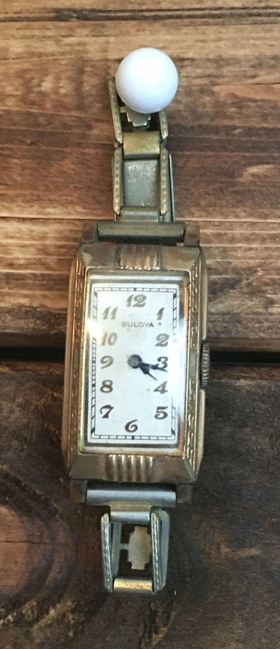SAVE 25% WITH CODE: SAVE25Vintage Bulova 10K Rolled Gold Plate Monitor Ladies Watch