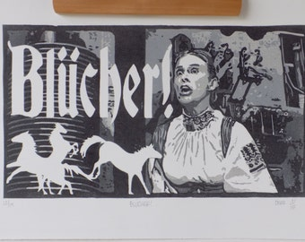 Frau Blücher Woodblock print