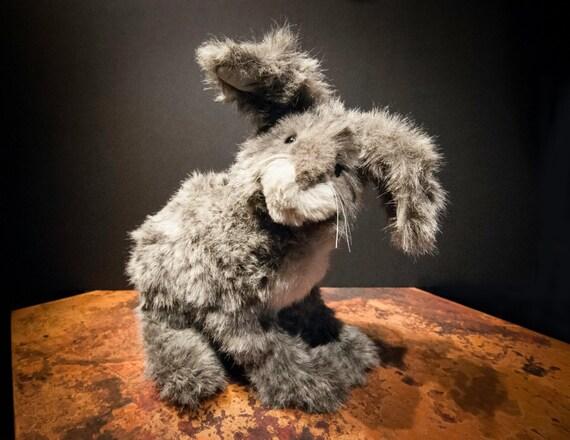 Handmade Beaver Valley Plush Hare 'Edmund' Signed by Artisan
