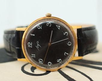 Soviet watch Luch Mens watch vintage Mechanical watch men Gift for him russian watch Luch watch Retro old watch Mechanical watch