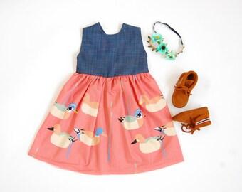 Vintage Duck Dress//toddler dress//baby dress//spring