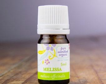 Certified Organic Melissa (Lemon Balm) (5ml) 100% Pure Highest Grade (6-star) Essential Oil