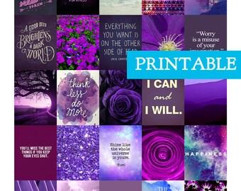PRINTABLE Quotes  - Motivational for Erin Condren Vertical Planner Stickers - Inspirational Quotes - Encouragement stickers - Purple