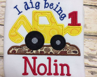 Personalized Appliqué  I Dig Being 1-9 Birthday shirt