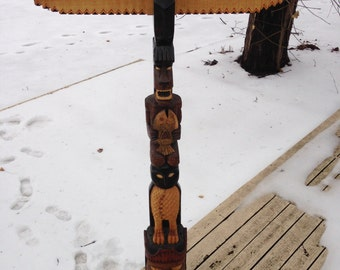Totem Pole ( Cheiftan Red Feather)