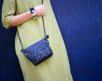 Mini  Crossbody bag / Beaded bag / Small cross body bag / Leather crossbody bag / Small crossbody bag / Evening bag / Small shoulder bag /