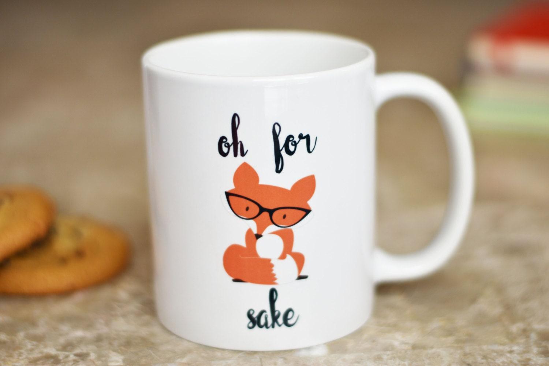 Best coffee mugs etsy - Funny Office Coffee Mugs Oh For Fox Sake Coffee Mug Fox Gifts Gift For Husband