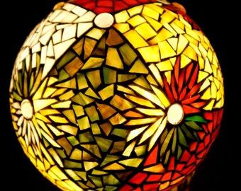 Mosaic design globe moodlamp,