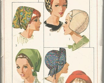 Vintage Simplicity Sewing Pattern # 6769 Set Of Hats One Size