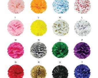 """5 8"""" Tissue Pom Pom Set / 8"""" Tissue Paper Pom Pom Set / 8 inch Pom Poms / Tissue Paper Pom Poms (set of 5)"""