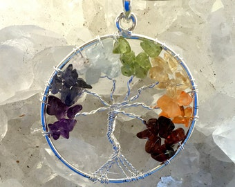 Chakra Tree of Life Pendant | Tree of Life Jewelry | Chakra Pendant | Chakra Jewelry | Metaphysical Jewelry | New Age Jewelry