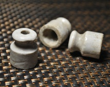 Clearance SALE 50 % OFF --- Small mini insulators set of 3 pcs porcelain ceramic vintage