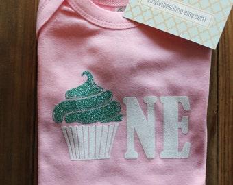cupcake birthday, first birthday, birthday suit, cupcake first birthday, first birthday outfit, cupcake birthday bodysuit, smashcake outfit