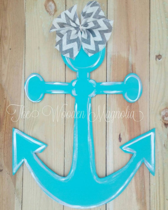 anchor door hanger affordable door decor by thewoodenmagnolia