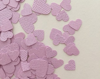 Wedding Confetti | Heart Confetti | Wedding Decorations | Wedding Invitations | Pack of 430 | Lavender | Small & Large Hearts