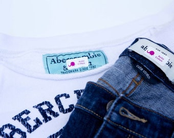 Personalized Laundry Safe Clothing Labels