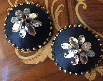 Black and Gold / Honey crystal pasties