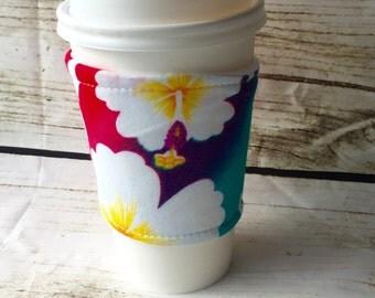 Coffee sleeve - tea cozy - Hawai'i Hawaii  coffee cuff teachers gift