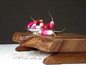 Elm Wood - Serving Platter - Rustic - Food Presentation - Wood Centerpiece - Minimalist Decor - Wedding Gift - Cheese Board