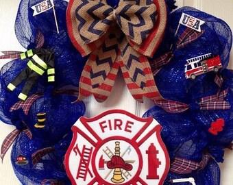 Fire Dept. Wreath, Fireman Wreath, Ladder 49 Wreath