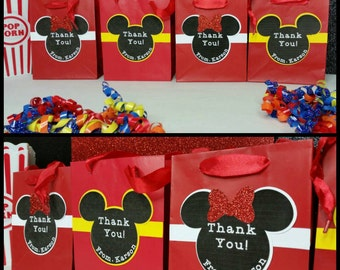 10 Personalized Mickey or Minnie Inspired Favors
