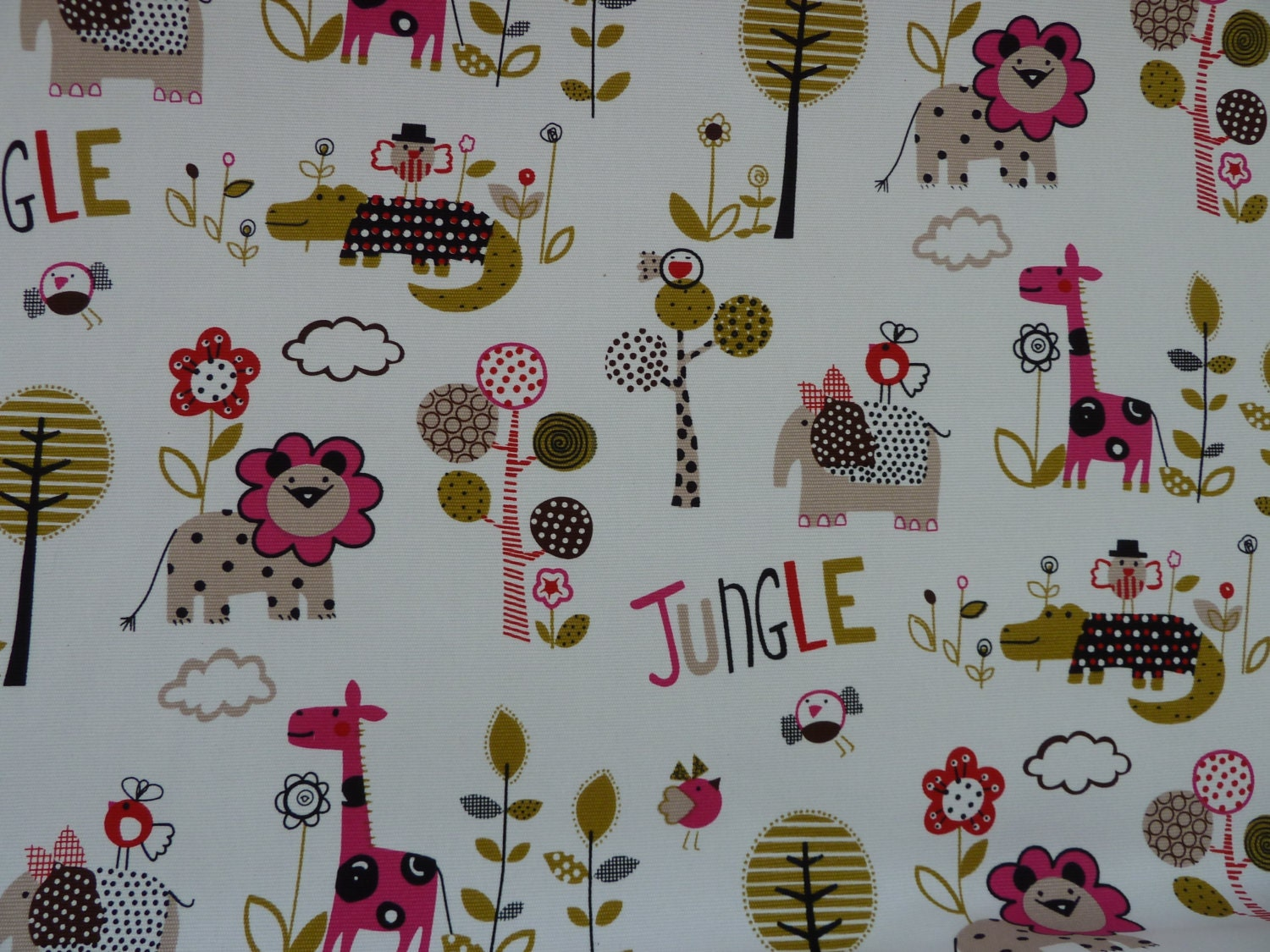 Children 39 s fabric jungle print nursery 100 by bobbobbobbin for Childrens jungle fabric