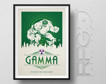 HULK Origin Print : Gamma Radiation - Marvel