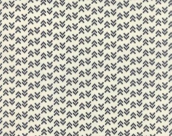 Floral Geometric Triangles Black Natural - NOMAD Arrowheads Bone Onyx - by Urban Chiks for Moda Fabrics - 31106 11