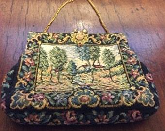 1940's Petit Point Handbag