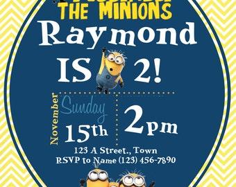 Minion Birthday Invite