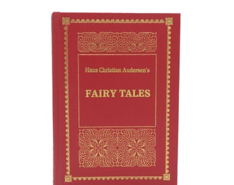 Hans Christian Andersen's Fairy Tales - vintage book - Purnell edition - red cover