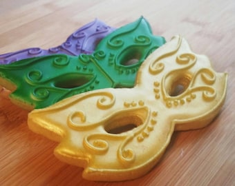 Elegant Mardi Gras Masquerade Masks Sugar Cookies any color