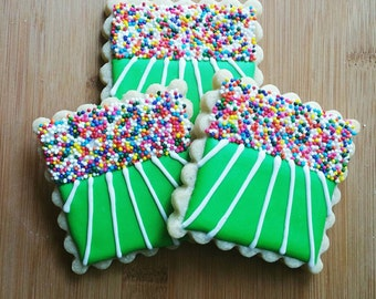 Decorated Iced Sugar Cookies Football Stadium Superbowl