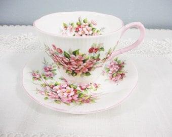 Royal Albert Apple Blossom Bone China Teacup & Saucer