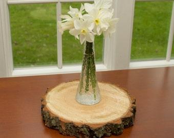 "10"" Rustic Wood Tree Slice (Log / Slab) - Wedding Decoration - Wedding Cake Stand - Reception Table Centerpiece"