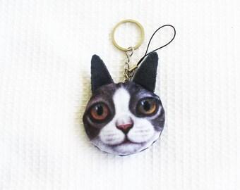 Plush cat key ring