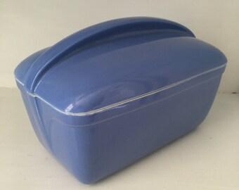 Vintage Hall Westinghouse Fridge Dish - Ceramic - Periwinkle blue - 1940's