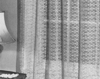 Curtain crochet – Etsy