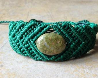 Handmade Macrame bracelet/bracelet handmade MOSS AGATE