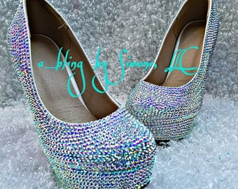 Custom blinged high heels