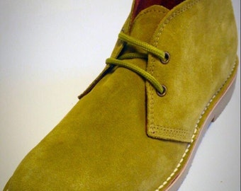 Men Shoes, Desert Boots, Chukka, Retro, Suede, Low Ankles