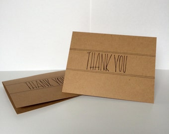 Thank You (Print) Card--Park of 5