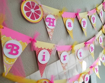 Pink Lemonade Birthday Party Banner, Pink Lemonade Party, Pink Lemonade Decor, Pink Lemonade Birthday, Pink Lemonade Birthday Party