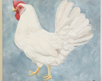 Original Chicken Acrylic Painting