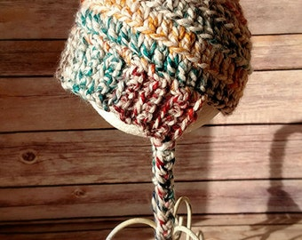 Crochet Pom Pom Baby Beanie