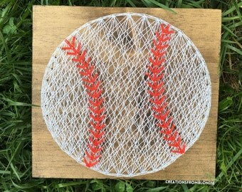 Baseball String Nail Art Sign, MADE TO ORDER