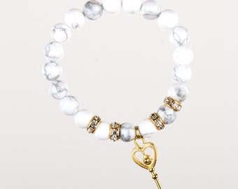 K.E.Y. Howlite Bracelet