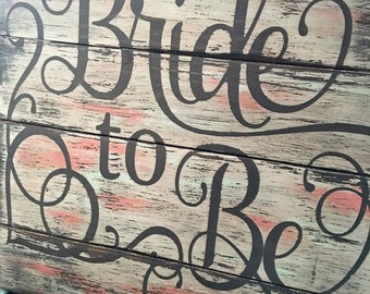 Bride to be on Reclaimed Pallet Wood