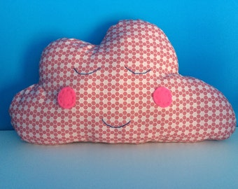 Cloud Cushion Decoration in Pink