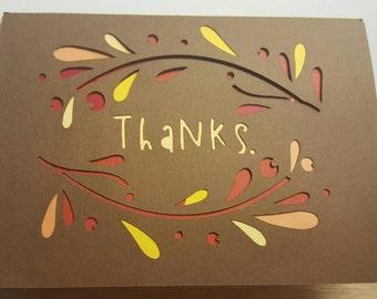 Handmade fall or Thanksgiving card